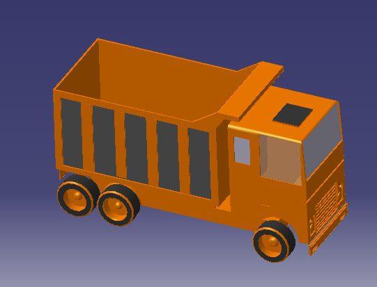 نمونه کار کامیون با کتیا
