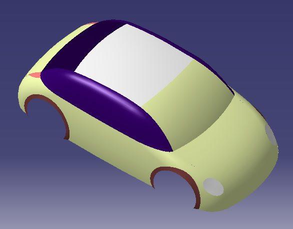 نمونه ماشین با کتیا